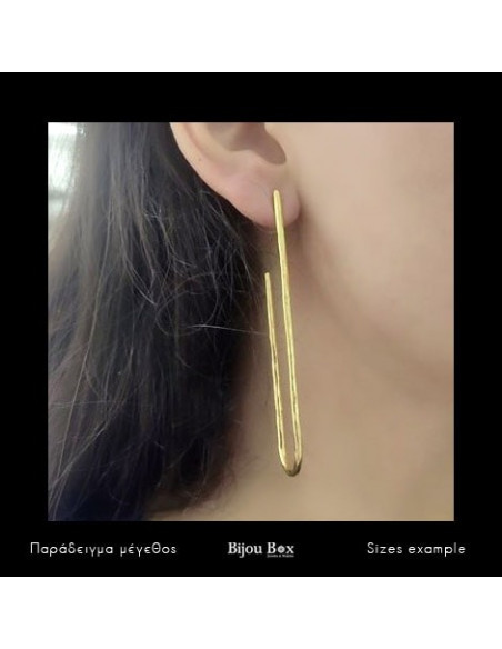 Long earrings of bronze gold BOGE 2