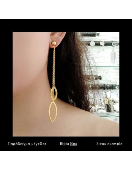 Lange Ohrringe aus Bronze gold SIEL 2