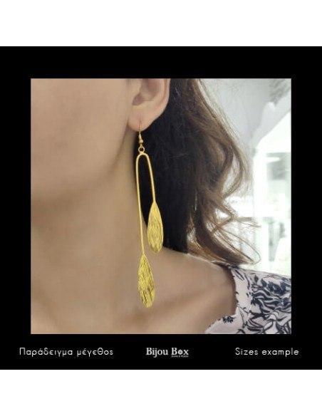 Lange Ohrringe aus Bronze gold YAKE 2