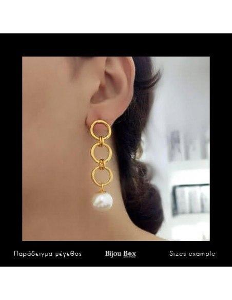 Perlen Ohrringe aus Bronze gold FERA 2