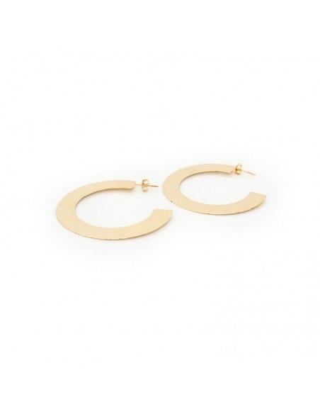 Silber Ohrringe Creolen GOLD 2