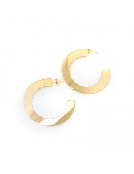 Silber Ohrringe Creolen GOLD