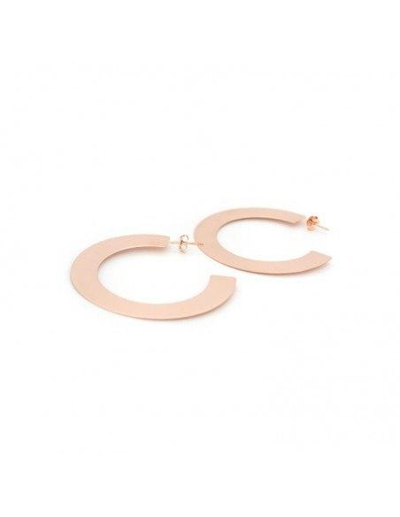 Silver hoop earrings rose gold ROSE 2