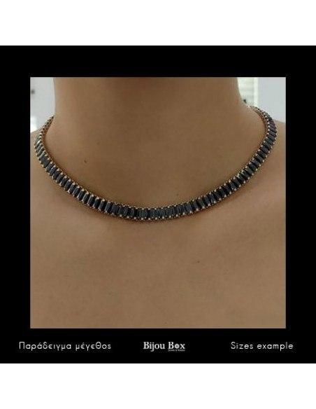 Rhinestone chain with black crystals gold SOPHIA 2