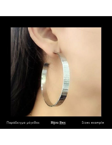 Hoop earrings in ancient greek style from silver plated bronze TRED 2