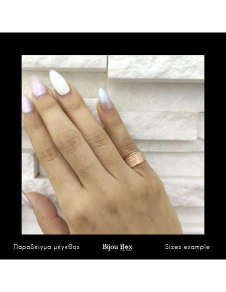 Silber Ring für kleinen Finger handgemacht rosegold REGI 2