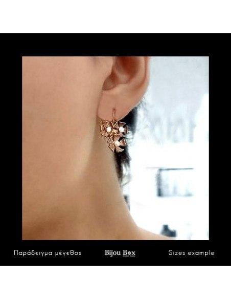 Perlen Ohrringe aus Bronze rosegold MARS 2