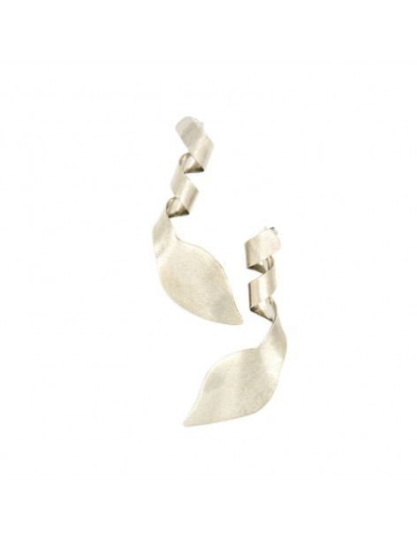 Earrings of bronze handmade silver plated STRIFTO