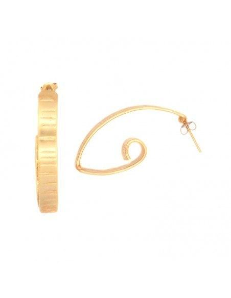 Σκουλαρίκια ρόζ χρυσό FIZ 2