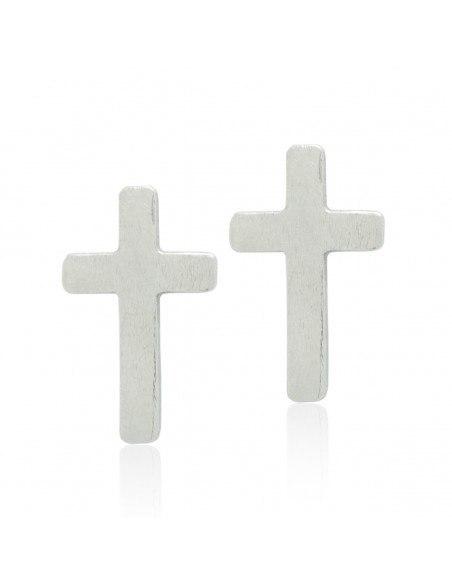 Cross Earrings of bronze silver AGIO