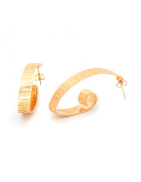 Σκουλαρίκια ρόζ χρυσό FIZ