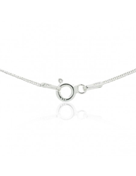 Silver Necklace with heart pendant and crystals SAGA 2
