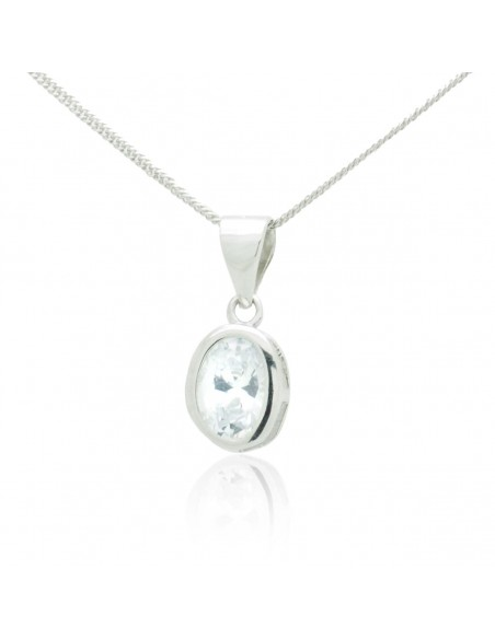 Silver Necklace with crystal pendant TRISIR