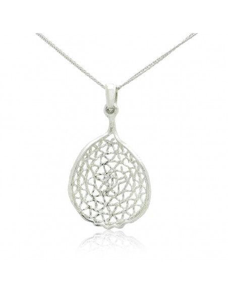 Silver Necklace with pendant handcrafted MIRI