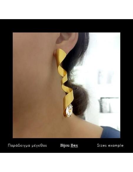 Σκουλαρίκια με ζιργκόν Swarovski® Elements χειροποίητα χρυσό OSIRIS 2