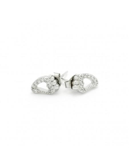 Ασημένια σκουλαρίκια καρφωτά με ζιργκόν ΠΟΔΑΡΑΚΙΑ 2