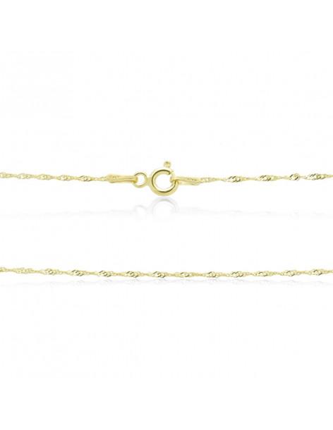 Silver chain 40cm gold plated SINGAPUR