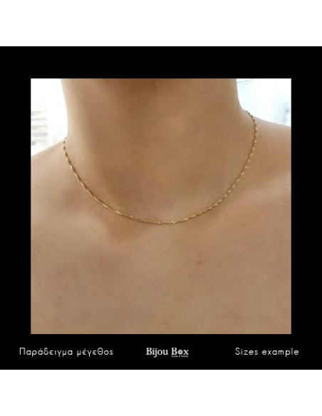 Silver chain 40cm gold plated SINGAPUR 2
