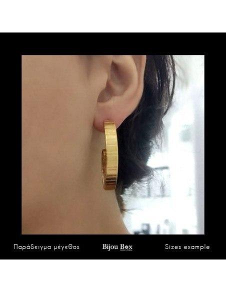 Σκουλαρίκια ρόζ χρυσό FIZ 3