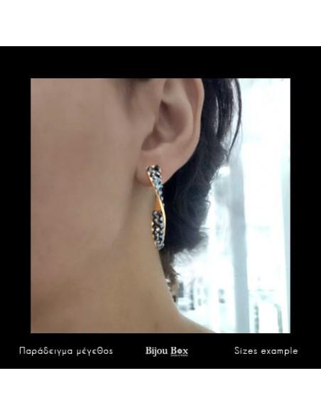 Earrings bronze gold plated ALIA 3