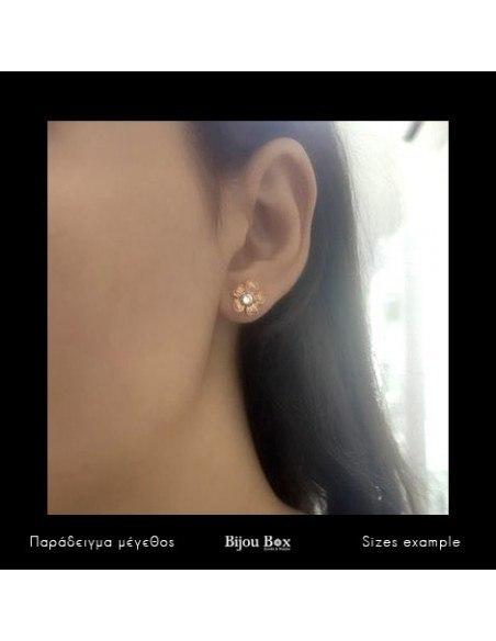 Stud earrings bronze rose gold plated IRIS 2