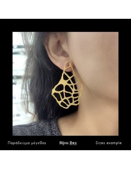 Earrings in ancient greek style from gold plated bronze VERDANDI 2