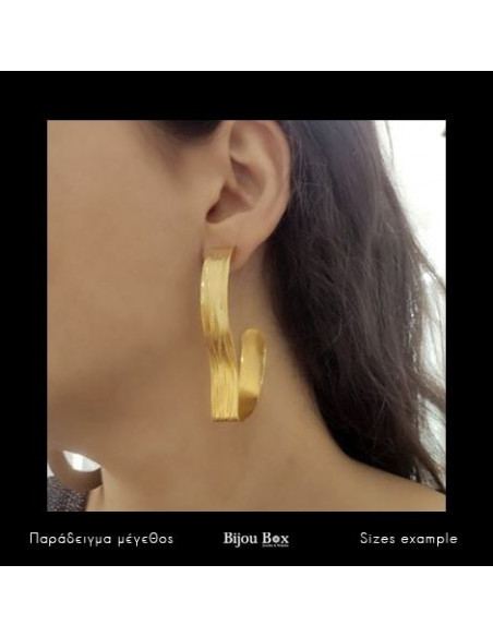 Earrings made of gold plated bronze CONCUS 3