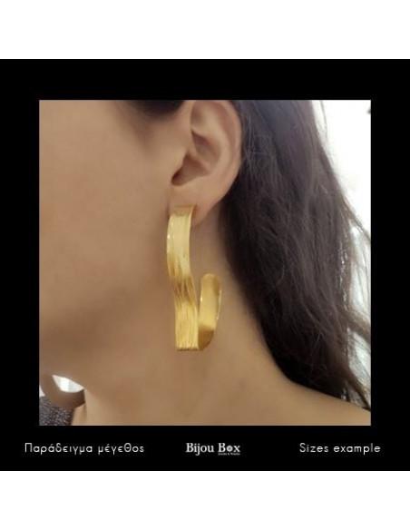 Ohrringe aus vergoldeter Bronze CONCUS 3