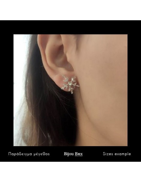 Stud Earrings with crystals silver CERES 2