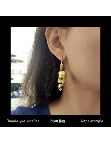 Earrings of bronze handmade gold HIAP 2