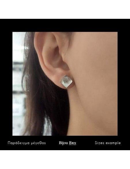 Silver Stud Earrings SQUARE 2