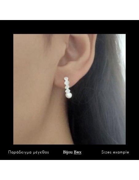 Pearl earrings of sterling silver LOT 2