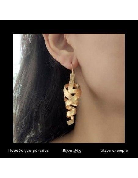 Σκουλαρίκια αρχαιοελληνικάv από μπρούτζο ροζ χρυσό HIAP 2