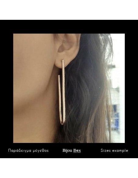Long earrings of bronze rose gold BOGE 2