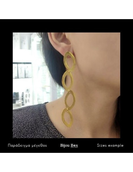 Lange Ohrringe aus Bronze vergoldet MODU 2