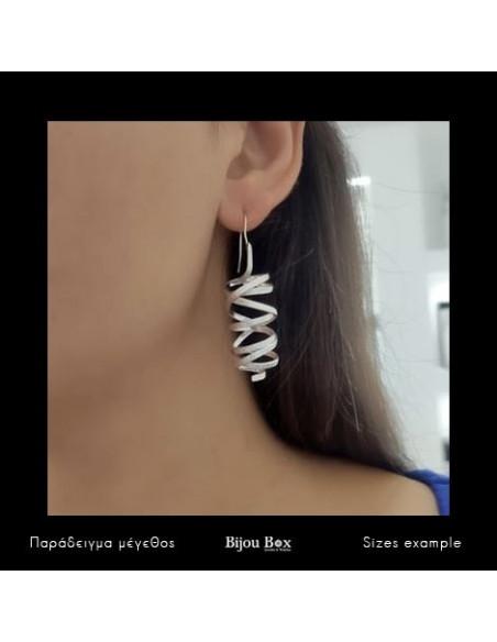 Earrings of bronze silver AURORA 2