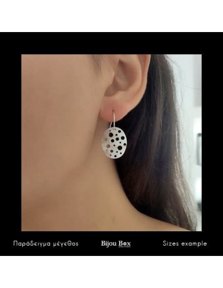 Ohrringe aus Bronze handgemacht silber IDUN 2