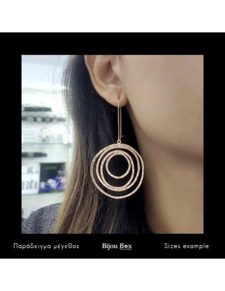 Designer earrings of bronze handmade rose gold HYPNO 2