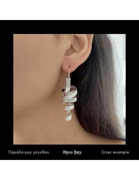 Grecian Earrings of bronze handmade silver HIAP 2