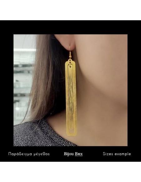 Lange Ohrringe aus Bronze handgefertigt gold LATE 2