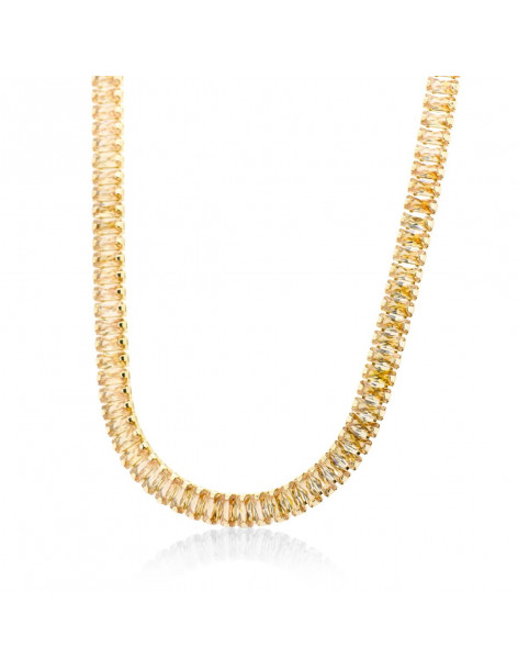 Crystal chain with amber colored crystals gold SOPHIA
