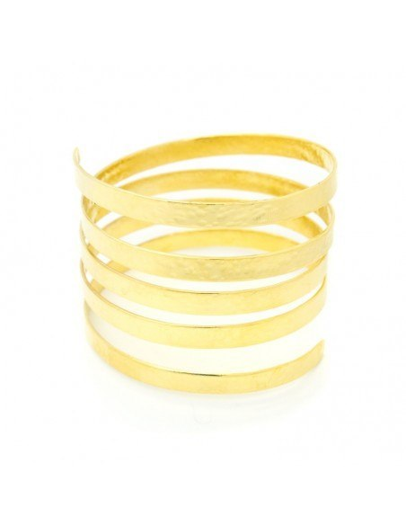 Greek Designer bangle bracelet gold SERIO 3