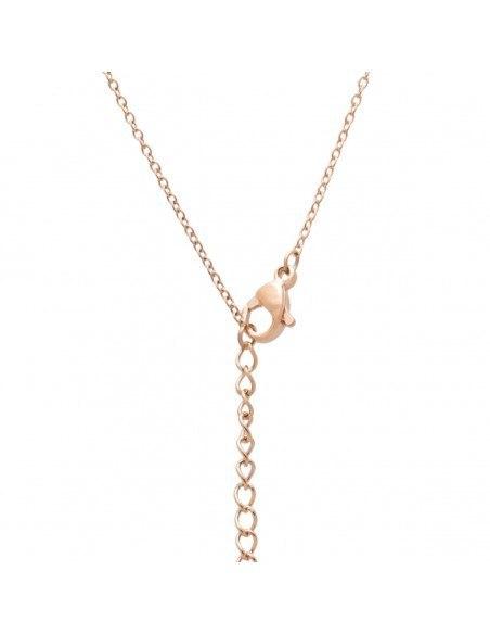 Halskette Mommy - Mama aus Edelstahl rosegold JIOP 2
