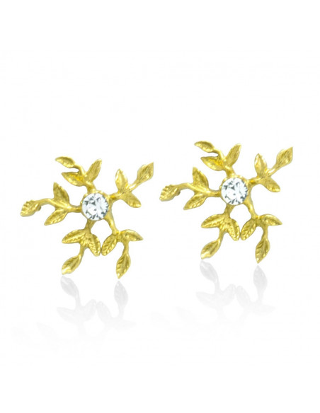 Stud earrings of bronze handmade gold CERES