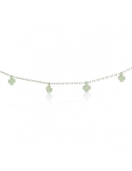Silver charm bracelet LUCKY