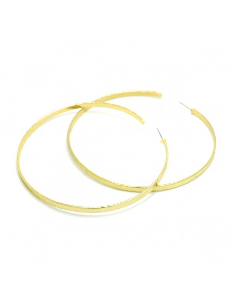 Große Creolen Ohrringe aus Bronze handgefertigt gold MEGA 2