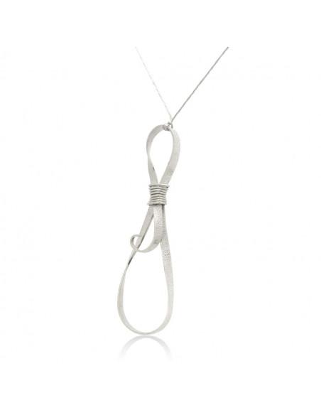Lange Halskette mit Bronze Anhänger handgefertigt silber DULE 3
