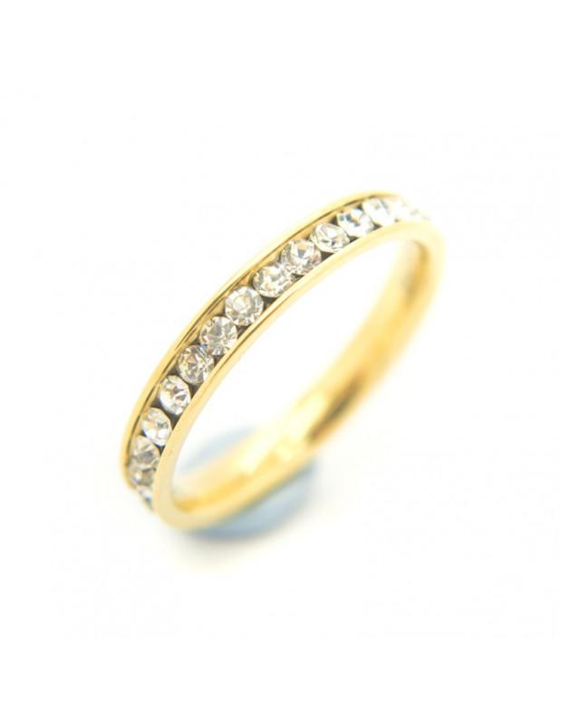 Δαχτυλίδι σειρέ από επίχρυσο ατσάλι SEIRA