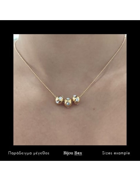 Necklace with crystals gold plated GAM 2
