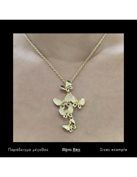 Necklace gold plated BUTTERFLY 2